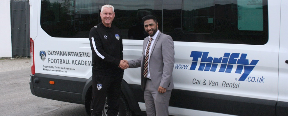 Thrifty Partner With Latics & Offer Supporters Discount On Rentals